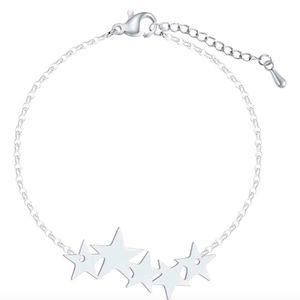 Jewelry - Silver Celestial Stars Stainless Steel Bracelet